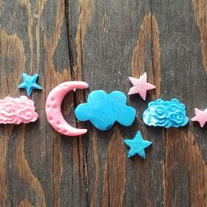 Other - chocolate stars moon clouds baby cupcake toppers
